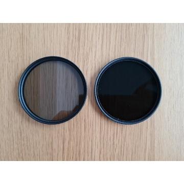 Filtr szary HOYA NDx8 + Polaryzacacyjny Hama 72mm