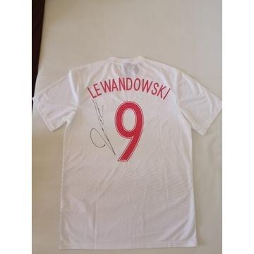 Koszulka Roberta Lewandowskiego z Autografem