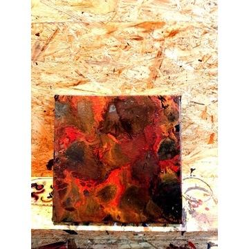 Obraz duszek 25x25cm acrylic pouring