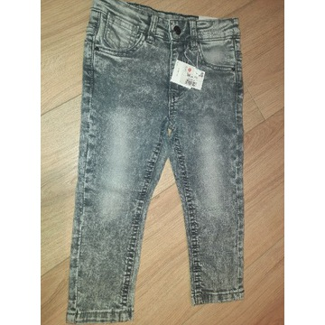 Reserved marmurkowe jeansy 98 nowe