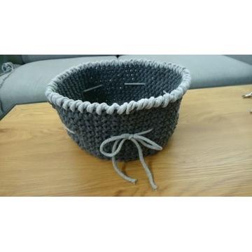 Koszyk ze sznurka bawełnianego duży średnica 30 cm