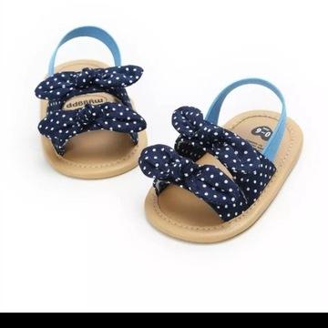 Buciki sandałki dla dziewczynki wkładka 10 cm