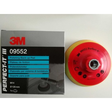 Talerz oporowy 3M , Pad polerski na rzep 09552