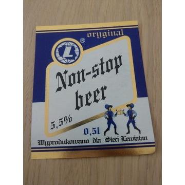 Non-stop beer wyprodukowano dla sieci Lewiatan