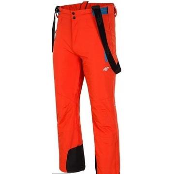 Spodnie narciarskie 4F T4Z14-SPMN201 POMARAŃCZ M
