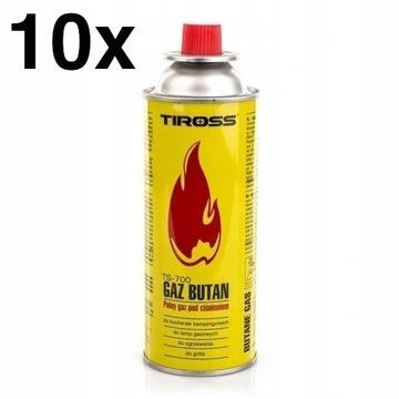 10x GAZ NABÓJ KARTUSZ 400ml KUCHENKA GAZOWA PALNIK