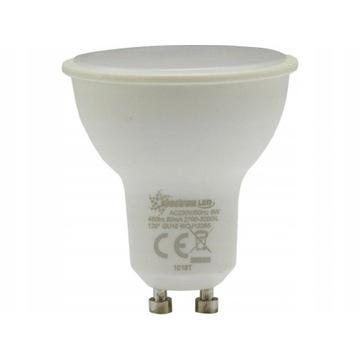 Żarówka LED GU10 SMD 2835 CIEPŁA 430lm 6W mleczna