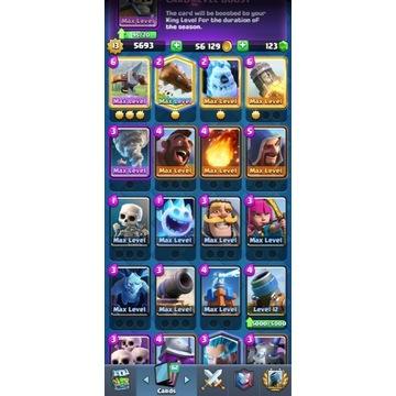 Konto clash royale 15 max kart 36 emotek!