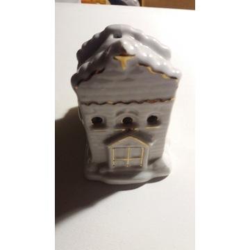 Domek-Kościół lampion na świeczkę tealight.