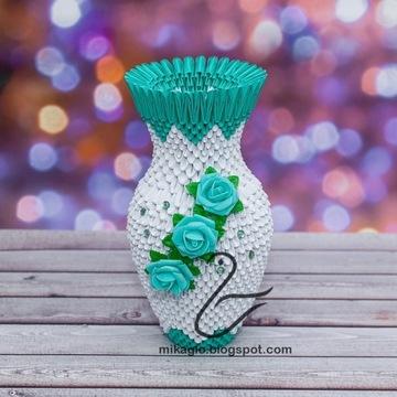 Wazon rękodzieło origami dekoracja handmade