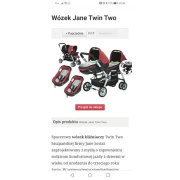 Wózek bliźniaczy Jane