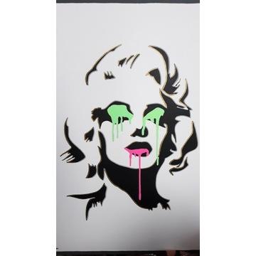 Marylin Monroe pop art obraz akryl