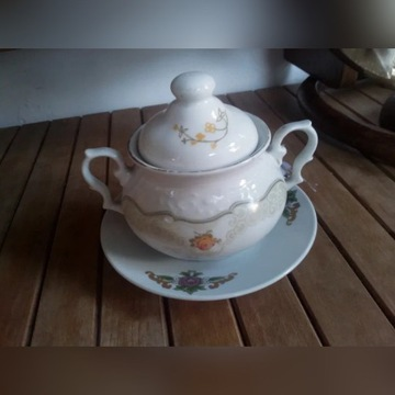 Cukiernica porcelanowa Karolina PRL