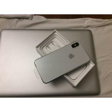 Okazja! IPhone X silver 64 bez simlocka stan Nowy
