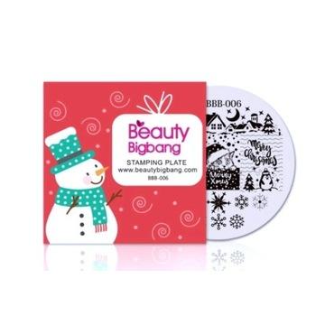 Blaszka płytka do stempli Beauty Bigbang Christmas