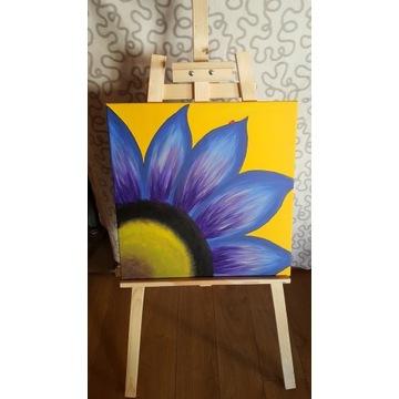 Obraz na płótnie ręcznie malowany rękodziełoKwiat