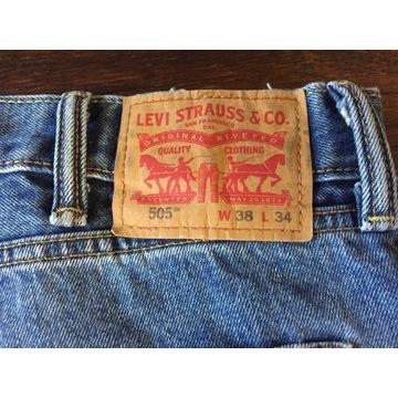 LEVIS 505 W38/ L34  spodnie meskie Jeans  proste