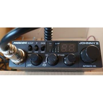 CB Radio President Johny II z anteną 33 cm