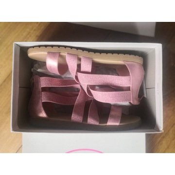 różowe sandałki Graceland r. 35 - super stan