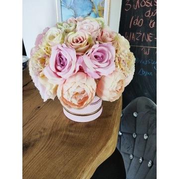 Flowerbox róże piwonie