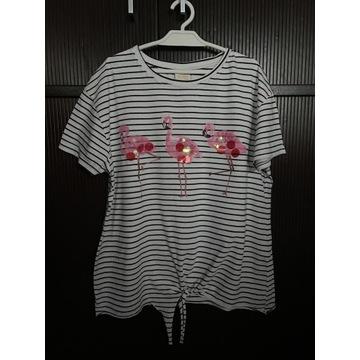 Śliczna bluzka Zara z flamingami, roz. 164 cm