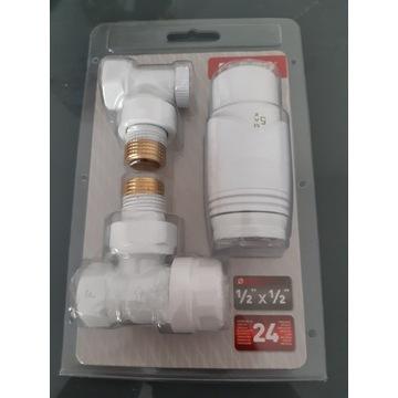 Zestaw termostatyczny kątowy 1/2 Gt 30 boały ferro