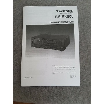 Technics RS-BX-808 - Instrukcja obsługi