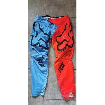 Fox Demo Blue/Red długie spodnie rowerowe MTB r.34