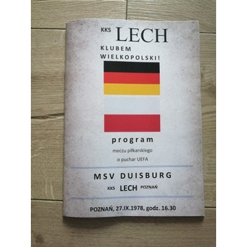 Program Lech Poznań - MSV Duisburg