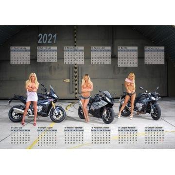 Kalendarz 2021 - Motocykle Dziewczyny, Bikes Girls
