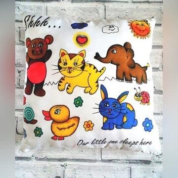 Poduszka do malowania zwierzątka zestaw z mazakami