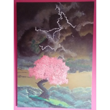 """Obraz na płótnie ,,drzewo w chmurach"""""""