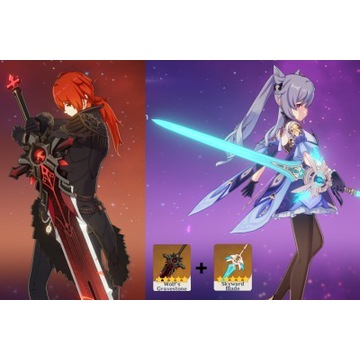 Genshin Diluc+Keqing WGS + Skyward Blade