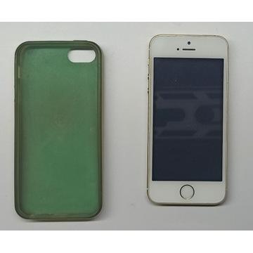 IPHONE 5s Model A1457 Złoty/Biały Etui Sprawny