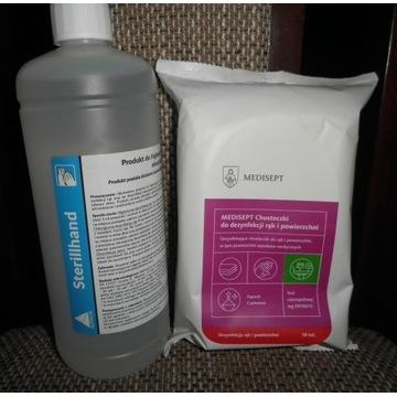 MEDISEPT Chusteczki do dezynfekcji +STERILLHAND 1L