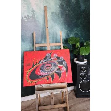 Oko obraz ręcznie malowany na płótnie