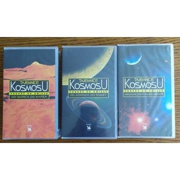 Tajemnice kosmosu -kolekcja 3x VHS NOWE W FOLII!!!