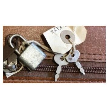 Kłódka walizkowa, 2 kluczyki