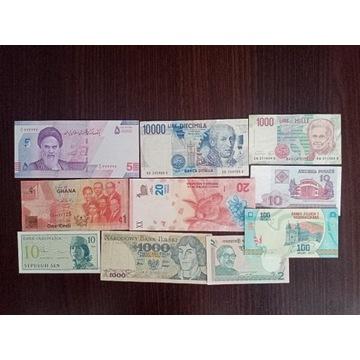 zestaw 1 banknotów