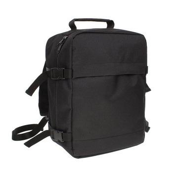 Plecak czarny WODOODPORNY 40x30x20, bezpł. bagaż