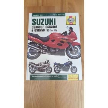 Haynes  Suzuki GSX600F GSX750F książka napraw