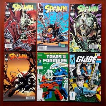 Komiksy 6 szt TM SEMIC Spawn G.I. Joe Transformers