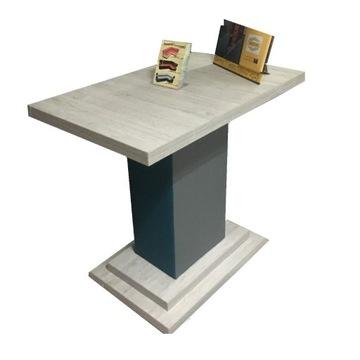 Stół z nogą tapicerowaną, 60x100 cm