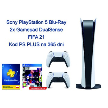 Nowy PlayStation 5 - 2xDualSense +Fifa 21+PS PLUS