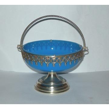 cukiernica secesja  niebieskie szkło