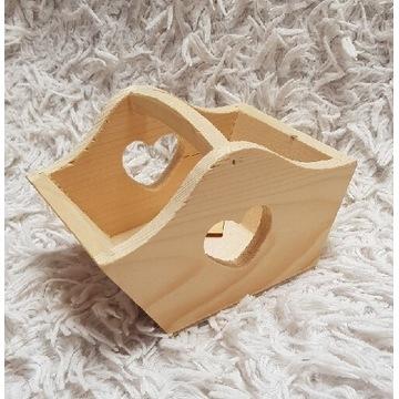Koszyczek z serduszkiem drewniane do decupage