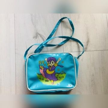 Torebka zabawka dla dziewczynki dziecka niebieska