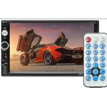 RADIO SAMOCHODOWE BLUETOOTH 2DIN USB DOTYK LCD 7