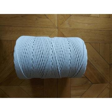 Sznurek bawełniany kręcony 3 i 5 mm -350m