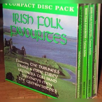 Muzyka irlandzka Irish Folk Favourites 4CD stanBDB